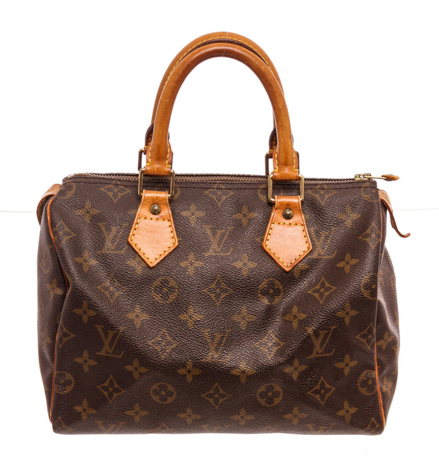 Louis Vuitton Brown Speedy 25 cm Satchel Bag