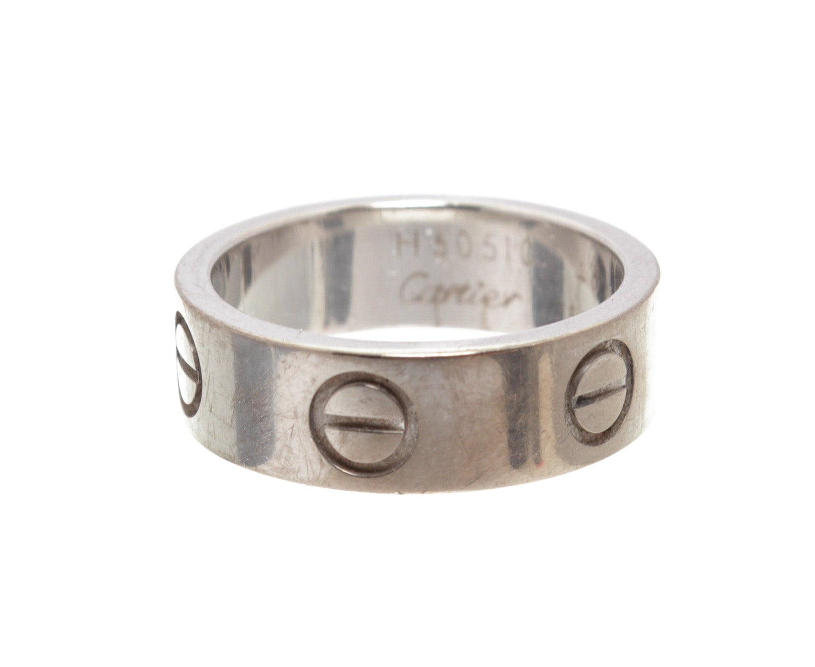Cartier Rhodium-Plated 18K White Gold LOVE Ring 48