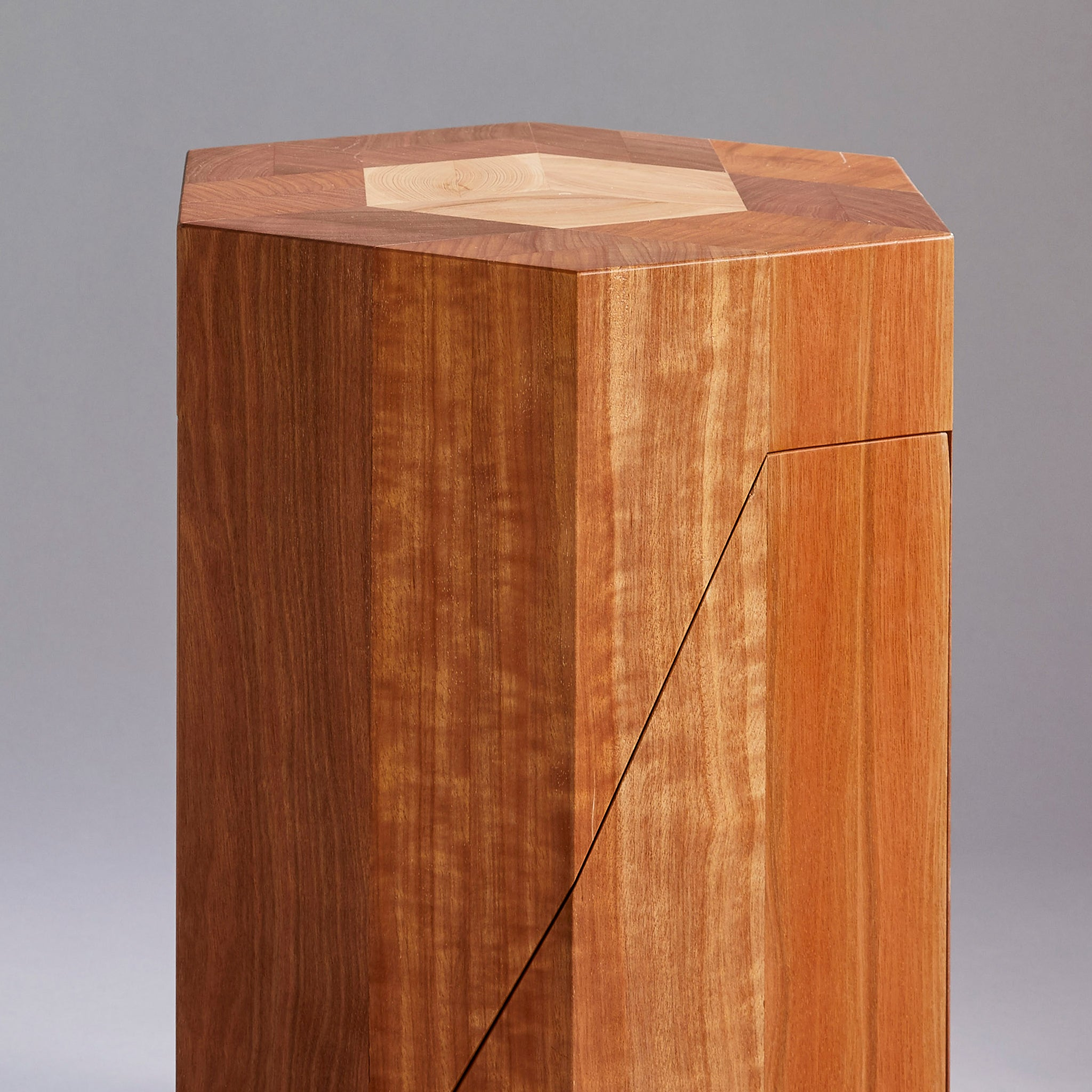Yosegi Pair Stool | Japanese Modern Furniture-Furniture-Yoshiaki Ito Design