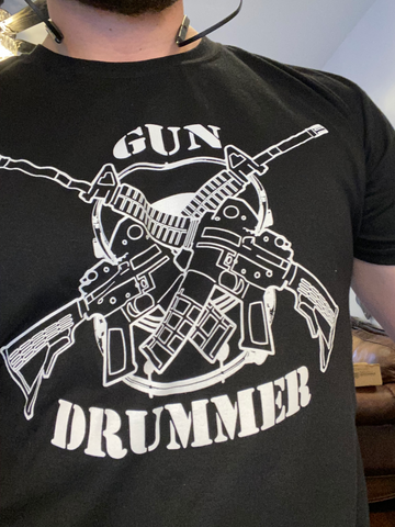 """Origins"" Gun Drummer Shirt - Made Locally and Made to Order!"