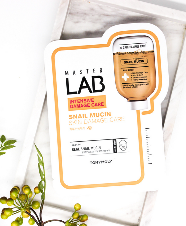 TONYMOLY Master Lab Real Mask Sheet - Snail Mucin (For Intensive Damage Care)
