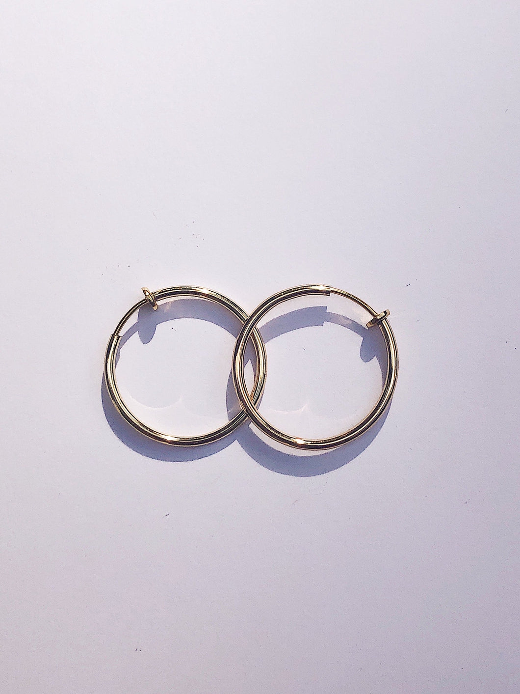 MandyMerce Gold hoop Gentle closure earrings