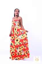 Load image into Gallery viewer, Sunflower Long Summer Dress