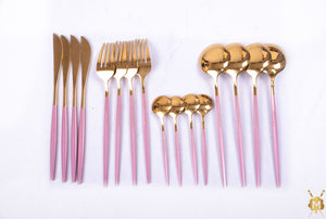 Pink Gold cutlery set