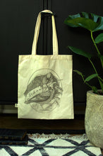 Load image into Gallery viewer, Be the Change Screen Printed Organic Cotton Canvas Reusable Tote Bag