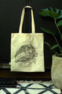 Be the Change Screen Printed Organic Cotton Canvas Reusable Tote Bag