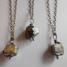 Load image into Gallery viewer, Pyrite Pendant Necklace