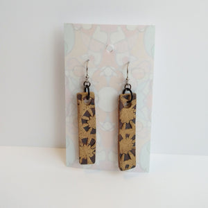 Stamped Ceramic Earrings