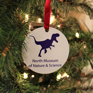 Metal T-Rex North Museum Christmas Ornament