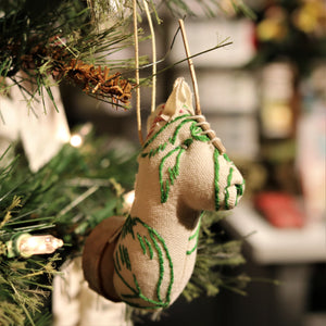 Mini Vegan Taxidermy Ornament