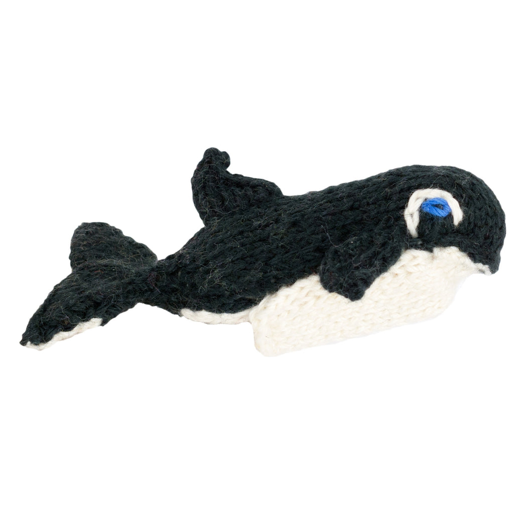 Orca - Bright Organic Cotton Finger Puppet