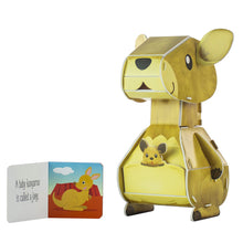 Load image into Gallery viewer, Kangaroo 3-D Puzzle & Book