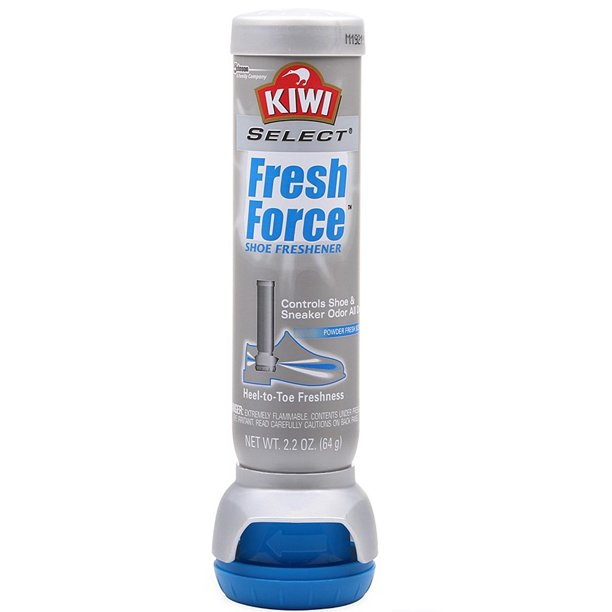 KIWI SELECT FRESH FORCE SHOE DEODORIZER ODOR PROTECTION SCENT FRESHENER 2.2 OZ.