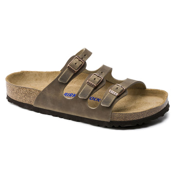 BIRKENSTOCK FLORIDA OILED LEATHER SOFT FOOTBED TABACCO BROWN 1011432