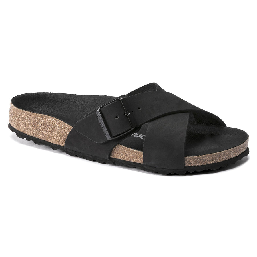 BIRKENSTOCK SIENA NUBUCK LEATHER BLACK 1019959