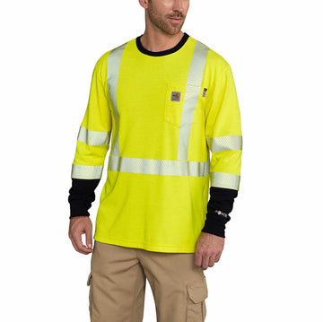 CARHARTT FLAME RESISTANT HIGH-VIS FORCE LONG-SLEEVE T-SHIRT CLASS 3 102905