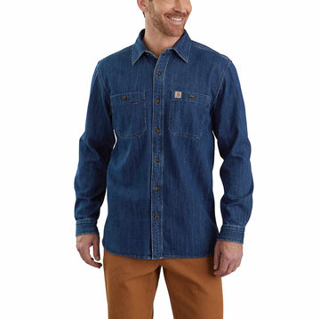 CARHARTT DENIM LONG-SLEEVE SHIRT 104145