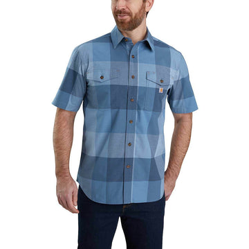 RUGGED FLEX RELAXED FIT LIGHTWEIGHT SHORT-SLEEVE PLAID SHIRT 104623