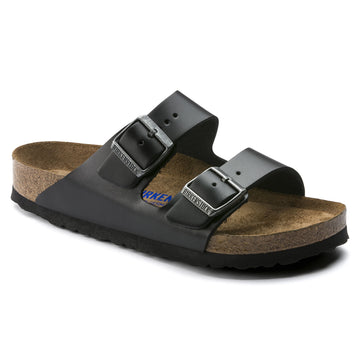 BIRKENSTOCK ARIZONA SMOOTH LEATHER SOFT FOOTBED AMALFI BLACK 552331