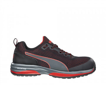 PUMA SPEED BLACK RED BLACK LOW SD COMPOSITE TOE WORK SHOE 644495