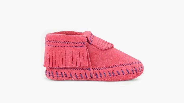 MINNETONKA HOT PINK RILEY BOOTIE INFANT 1160