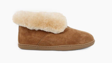 MINNETONKA WOMEN'S SHEEPSKIN AKLE BOOT TAN 3351
