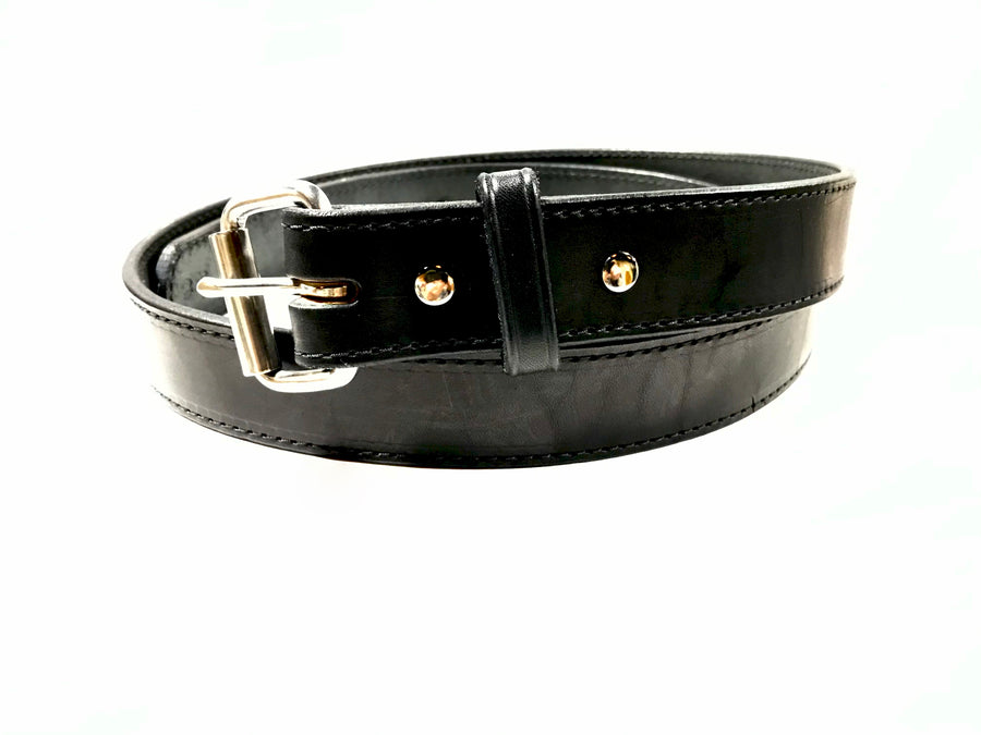 P & B HARNESS AMISH MADE LEATHER STITCHED BLACK 1 1/2