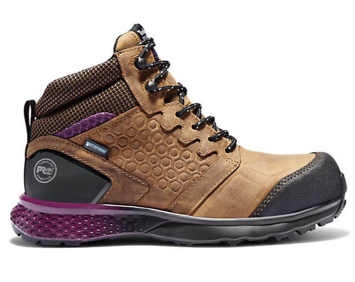 A219B WOMEN'S TIMBERLAND PRO® REAXION COMP TOE WORK BOOTS