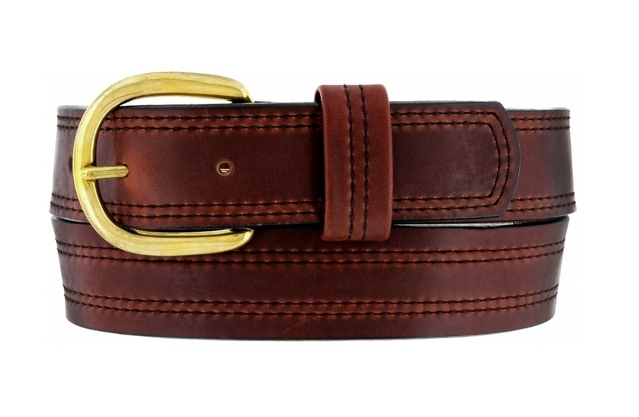 BRIGHTON X STITCHING OLITAN BELT BROWN 00556