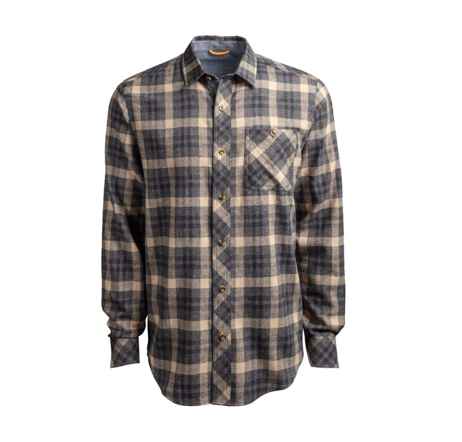 TIMBERLAND PRO WOODFORT MID-WEIGHT FLANNEL WORK SHIRT A1V49