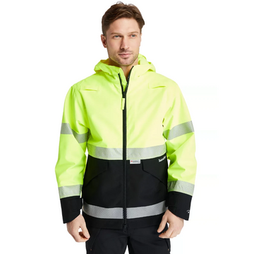 TIMBERLAND PRO WORK SIGHT HIGH-VISIBILITY WATERPROOF JACKET ANSI YELLOW A1OXD