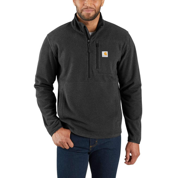 CARHARTT DALTON HALF-ZIP FLEECE JACKET BLACK HEATHER 103831