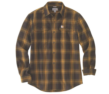 CARHARTT ORIGINAL FIT FLANNEL LONG-SLEEVE PLAID SHIRT 104451