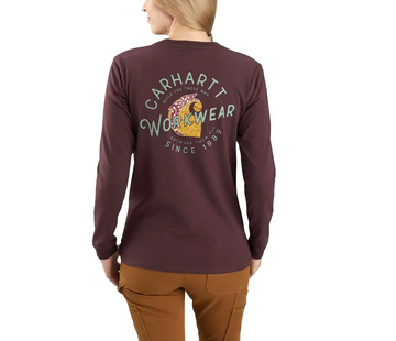 CARHARTT WOMEN'S ORIGINAL FIT HEAVYWEIGHT LONG SLEEVE ROSIE CARHARTT GRAPHIC T-SHIRT 104524