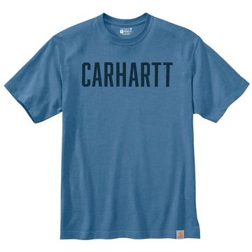 CARHARTT LOOSE FIT HEAVYWEIGHT SHORT-SLEEVE BLOCK LOGO GRAPHIC T-SHIRT 104609
