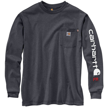 CARHARTT FR FORCE ORIGINAL FIT MIDWEIGHT LONG-SLEEVE SIGNATURE LOGO T-SHIRT 104130