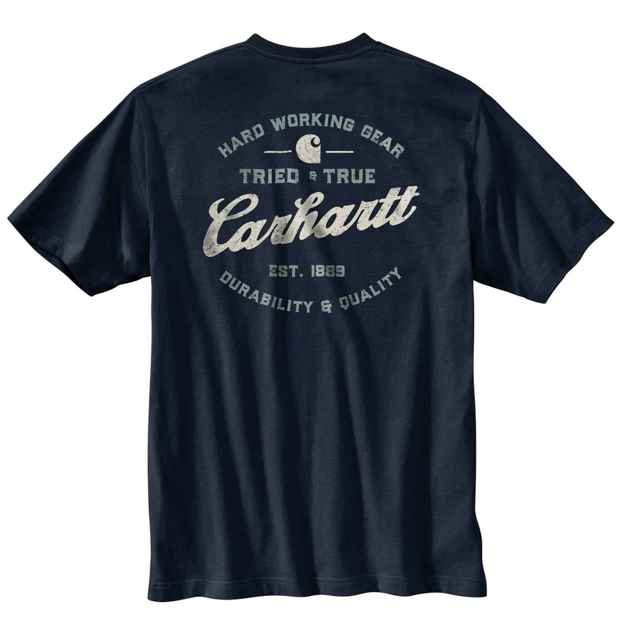 CARHARTT RELAXED FIT HEAVYWEIGHT SHORT-SLEEVE POCKET TRIED AND TRUE GRAPHIC T-SHIRT 104612