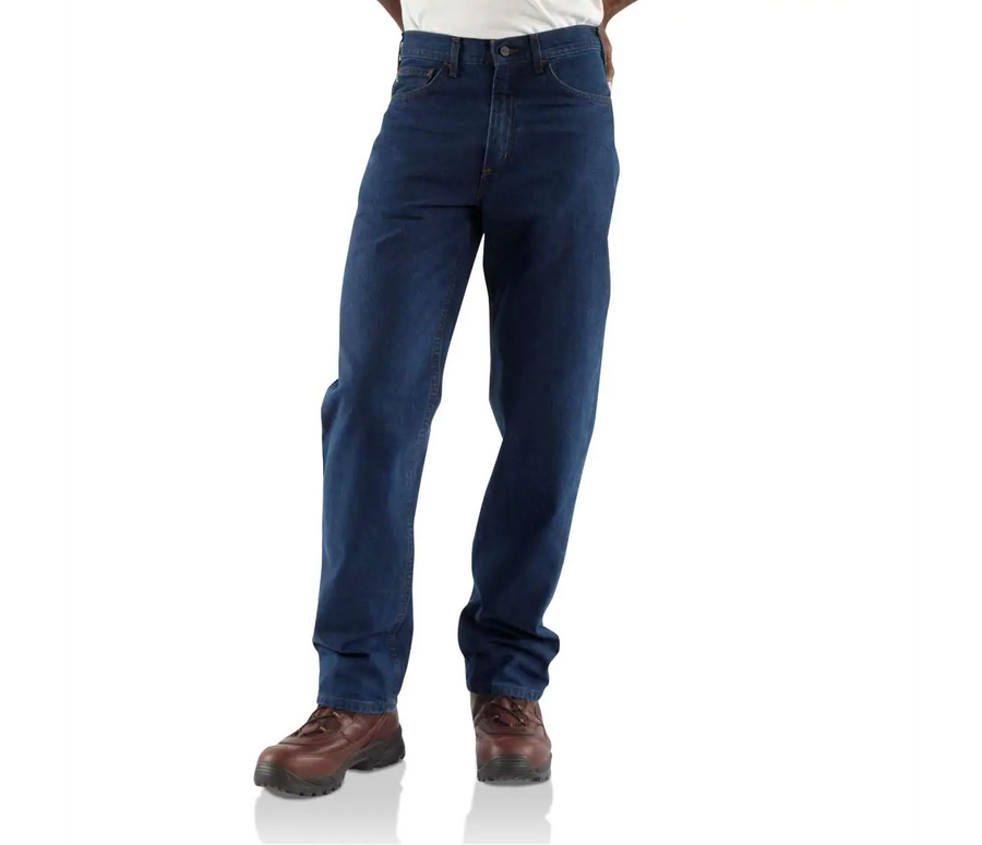 CARHARTT FLAME RESISTANT RELAXED FIT STRAIGHT LEG JEANS FRB100