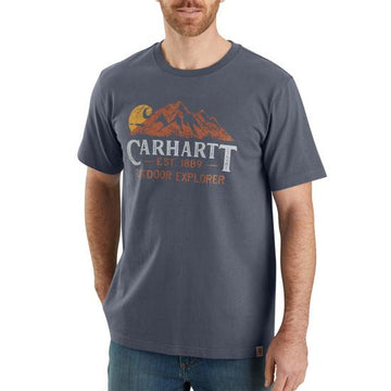 CARHARTT RELAXED FIT OUTDOOR EXPLORER SS GRAPHIC T-SHIRT BLUESTONE 104183