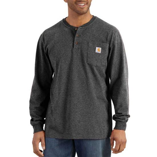 CARHARTT WORKWEAR LONG SLEEVE HENLEY T-SHIRT K128