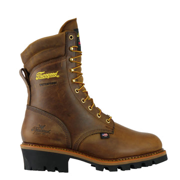 THOROGOOD USA LOGGER SERIES 9″ BROWN TRAIL CRAZY-HORSE INSULATED WATERPROOF STEEL TOE 804-3554