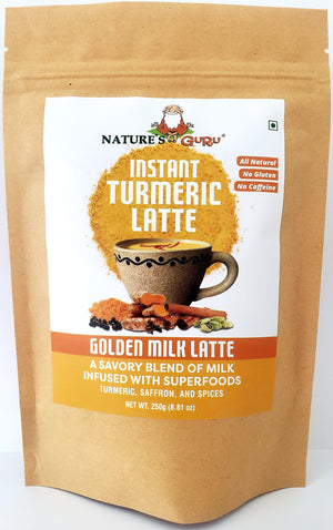 Instant Turmeric Latte I Golden Milk I Nature's Guru