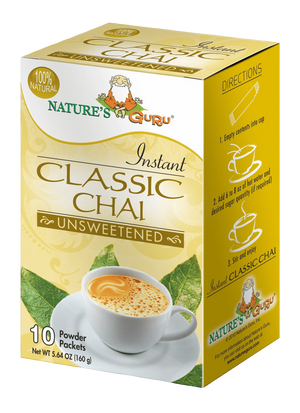 Classic Chai Latte Instant Tea Mix I Nature's Guru I Unsweetened