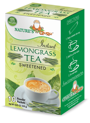 Lemongrass Chai Latte Instant Tea Mix I Nature's Guru I Sweetened 10 CT Box