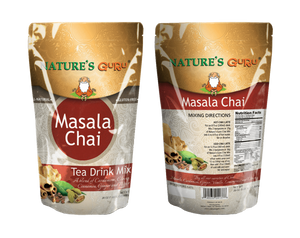 Masala Spice Chai Latte Instant Tea Mix I Nature's Guru I Sweetened 500g Bag