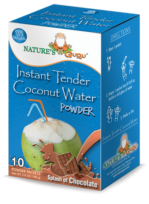 Coconut Water Instant Hydration Drink Mix I Nature's Guru I Chocolate