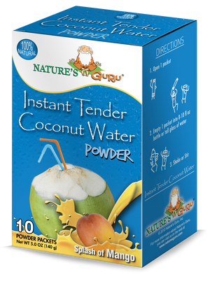 Coconut Water Instant Hydration Drink Mix I Nature's Guru I Mango