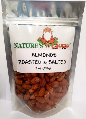 Nature's Guru Snacks Nature's Guru Almonds Roasted & Salted - 8 oz Bag