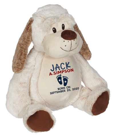 Dalton Dog (Personalized Birth Stat Plush)