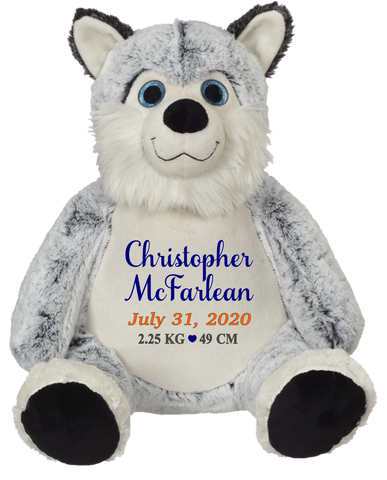 Horation Husky (Personalized Birth Stat Plush)